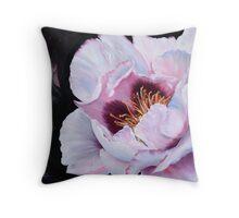 Flowering Peony Throw Pillow