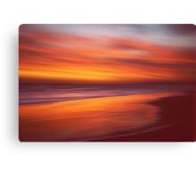 Amber Coast Canvas Print