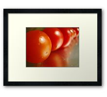 Red pearls Framed Print