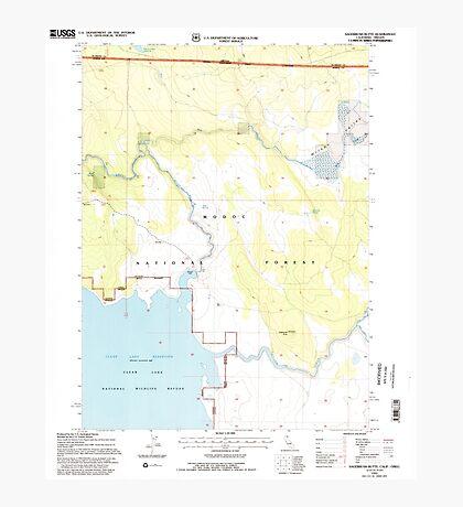 USGS Topo Map California Sagebrush Butte 294897 1993 24000 Photographic Print