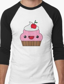 Cute Cupcake Men's Baseball ¾ T-Shirt
