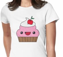 Cute Cupcake Womens Fitted T-Shirt