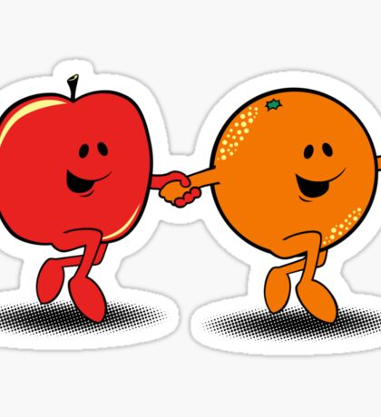 Apples and Oranges Sticker