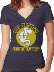 The Fighting Luckdragons Women's Fitted V-Neck T-Shirt