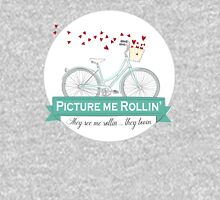 Picture me Rollin' Bike Illustration. They see me Rollin, They be Lovin' Womens Fitted T-Shirt