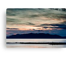 Arran sunset seascape Canvas Print