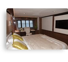 Princess 98 motor yacht suite at the Southampton boat show 2011 Canvas Print