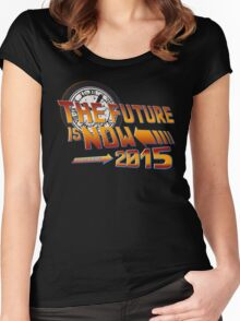 Back to The Future is Now 2015 Women's Fitted Scoop T-Shirt
