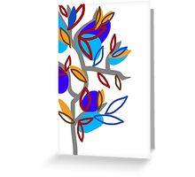 Blue Leaves  Greeting Card
