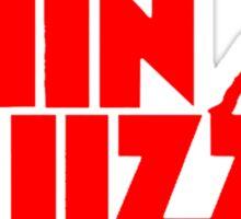 New LIZZY Jailbreak Irish Rock Band Logo Mens Black T-Shirt Sticker