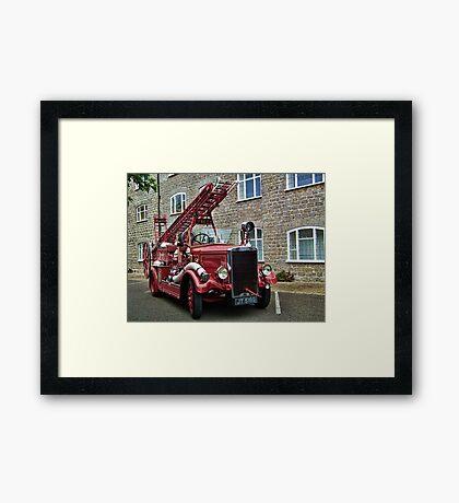 Weymouth Vintage Fire Engine Framed Print
