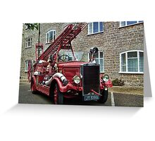 Weymouth Vintage Fire Engine Greeting Card