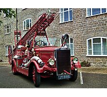 Weymouth Vintage Fire Engine Photographic Print
