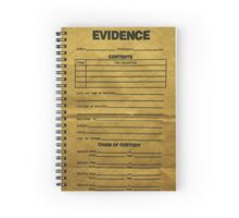 Evidence Bag Spiral Notebook