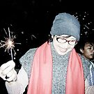 Ms Sunny in last New Year moment...memo. by Kornrawiee