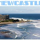 Newcastle Beach by reflector