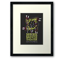 Zombie Movie Theater (US) Framed Print