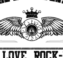 Property of Haight Ashbury - Peace-Love-Rock and Roll Sticker