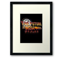 Back to The Future is Now Time Machine Framed Print