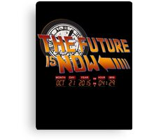 Back to The Future is Now Time Machine Canvas Print