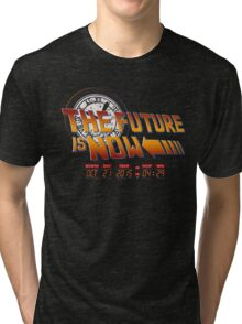 Back to The Future is Now Time Machine Tri-blend T-Shirt