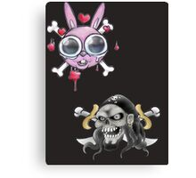 Crossbones Hiz & Herz Canvas Print