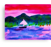 Who would want to leave this,  watercolor Canvas Print