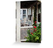 Roses and Rocking Chairs Greeting Card