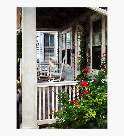 Roses and Rocking Chairs Photographic Print