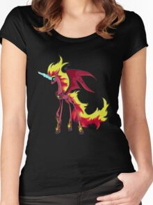 My Little Pony - MLP - Nightmare Sunset Shimmer Women's Fitted Scoop T-Shirt