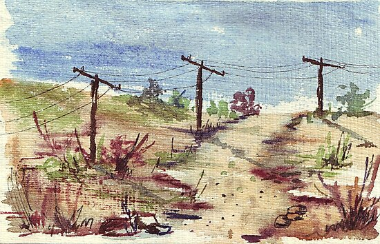 Under A Telephone Pole by Maree Clarkson