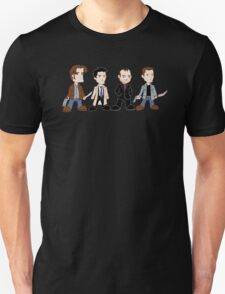 Sam, Dean, Castiel, Crowley Unisex T-Shirt