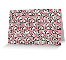 Ben's Hearts Pattern Greeting Card