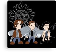 Sam, Dean, Castiel Canvas Print