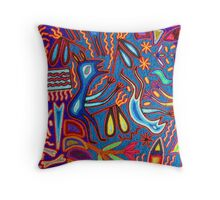 Huichol Art II - Indian Culture Throw Pillow