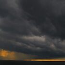 One of these evenings I - secretful light and colour of the sun and clouds by Bernhard Matejka