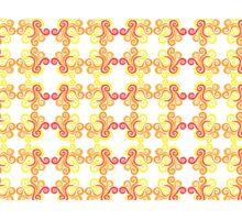 Firery Swirls Pattern Photographic Print