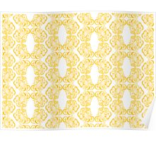 Golden Emblem Pattern Poster