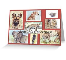 Season's Greetings from Africa Greeting Card
