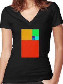 Golden ratio Women's Fitted V-Neck T-Shirt