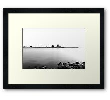 Land in the Horizon  Framed Print