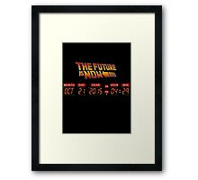 Back to The Future is Now Panel Time Framed Print
