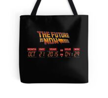 Back to The Future is Now Panel Time Tote Bag