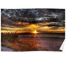 Sunrise over New York Bay Poster
