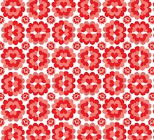 Heart Fan Flower Pattern by Wealie