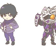 [Kamen Rider] Drive - Machine Chaser/Chase Stickers by dotemcee