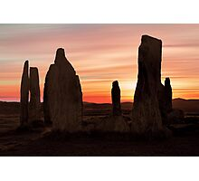 Ancient Scottish Standing Stones Photographic Print