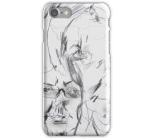 self portrait without looking at paper iPhone Case/Skin