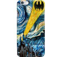 batman logo stary night iPhone Case/Skin