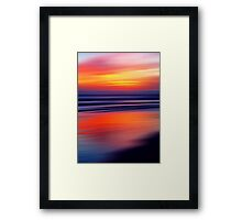 Beach a Blaze Framed Print